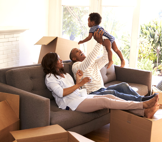 Family Unpacking In Rental Property