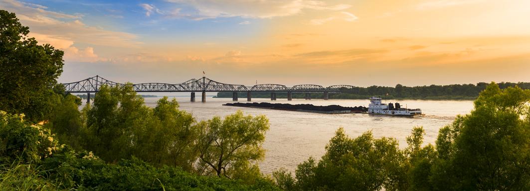 Mississippi River In Vicksburg